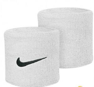 Напульсники Nike swoosh wristbands white/black