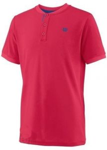 Футболка дет. Wilson jr UWII henley neon red
