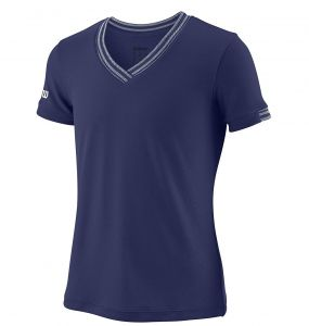 Футболка дет. Wilson jr team V-neck dark-blue