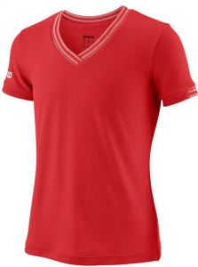Футболка дет. Wilson jr team V-neck red