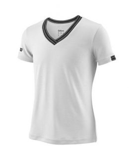 Футболка дет. Wilson jr team V-neck white