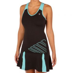 Платье жен. K-Swiss Womens Big short split dress black/blue