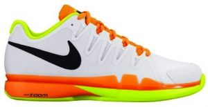 Кроссовки муж. Nike Zoom Vapor 9.5 tour clay white/orange/yellow