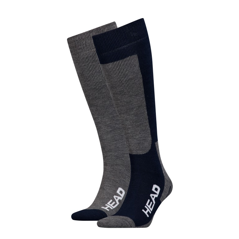 Носки горнолыжные Head UNISEX SKI KNEEHIGH 2P blue-grey