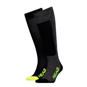 Носки горнолыжные Head UNISEX SKI KNEEHIGH 2P black-yelow