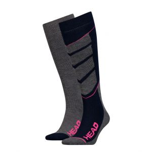 Носки горнолыжные Head UNISEX SKI V-SHAPE KNEEHIGH 2P blue-pink