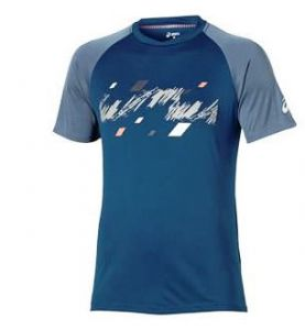 Футболка муж. Asics Club graphic SS top blue