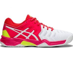Кроссовки дет. Asics Gel-Resolution 7 clay white/pink