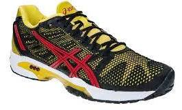 Кроссовки теннисные Asics Gel-solution speed 2 clay black/fiery red/yellow