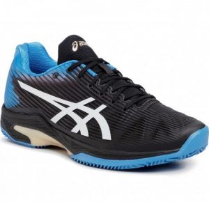 Кроссовки муж. Asics Solution Speed FF clay black/light-blue
