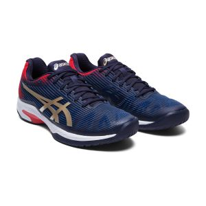 Кроссовки муж. Asics Solution Speed FF navy/silver/red