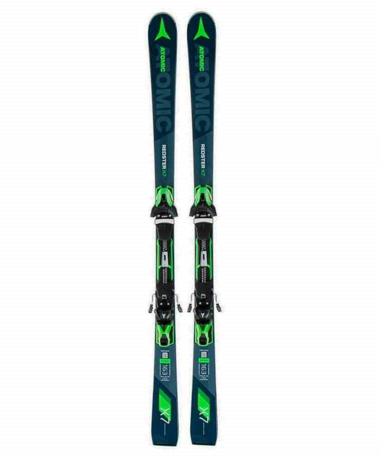 Лыжи Atomic REDSTER X7 + FT 12 GW Grey Blue/Green