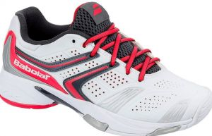 Кроссовки теннисные Babolat Drive 3 all court white/pink