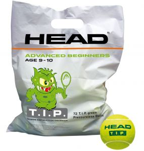 Мячи теннис Head 72B HEAD TIP green - Polybag