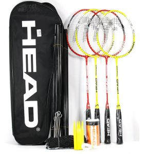 Набор для бадминтона Head Leisure Kit red + yellow (4 rackets)