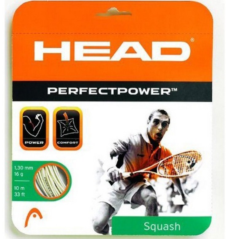 Струны для сквоша Head Perfect Power Squash 17 White
