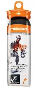 Мячи для сквоша Head Tournament Squash 3-Ball Black