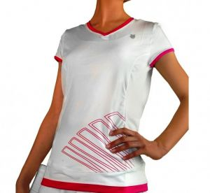 Футболка дет. K-Swiss Girls Big shot capsleeve white/pink