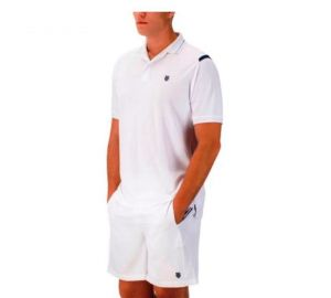 Поло муж. K-Swiss Men Polo backcourt white