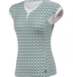 Футболка жен. K-Swiss Women's 66 Print Cap Sleeve Top Dynasty Green