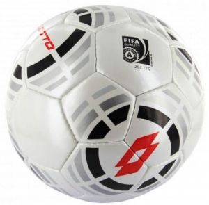 Мяч футбольный Lotto ball twister FB100 5 m.white/black/red