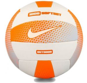 Мяч волейбол Nike 1000 SOFTSET OUTDOOR VOLLEYBALL 18P CONE/WHITE/CONE/WHITE size 5