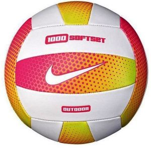 Мяч волейбол Nike 1000 SOFTSET OUTDOOR VOLLEYBALL 18P HYPER PINK/WHITE/HYPER PINK/WHITE size 5
