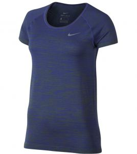 Футболка жен. Nike DF KNIT TOP SS navy