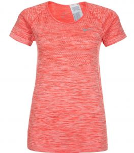 Футболка жен. Nike DF KNIT TOP SS red
