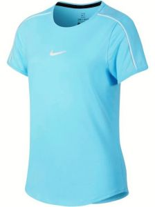 Футболка дет. Nike Girls dry top light-blue