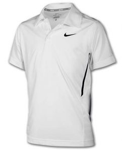 Поло дет. Nike NET SS Polo boys white/black