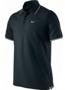 Поло муж. Nike Polo NET Cotton Pique black