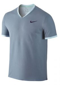 Футболка муж. Nike RF NK Dry top SS Vneck light-blue