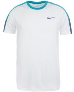 Футболка муж. Nike Team court crew white/blue