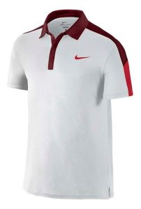 Поло муж Nike Team court polo white/dark-red
