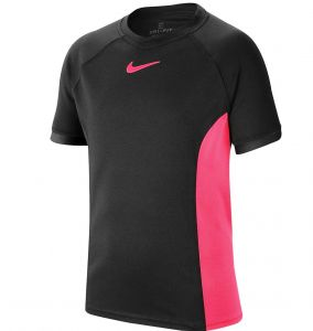 Футболка дет. Nike boy Dry SS top black/pink
