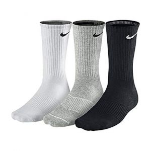 Носки Nike cotton cushion crew 3 pairs white/black/grey