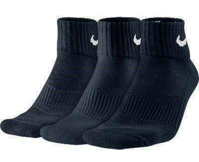 Носки Nike cotton cushion quarter 3 pairs black