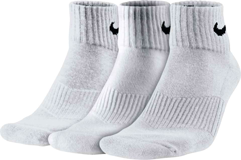 Носки Nike cotton cushion quarter 3 pairs white
