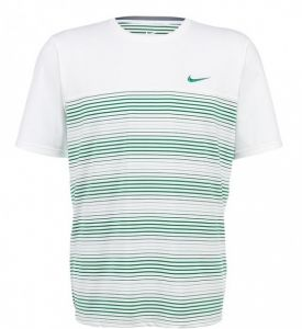 Футболка муж. Nike match statement uv crew white/green