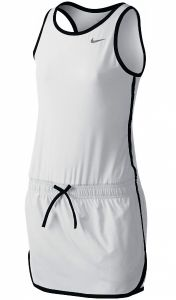 Платье дет. Nike tennis dress white/black
