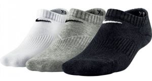 Носки Nike young no show cushion 3 pairs white/grey/black