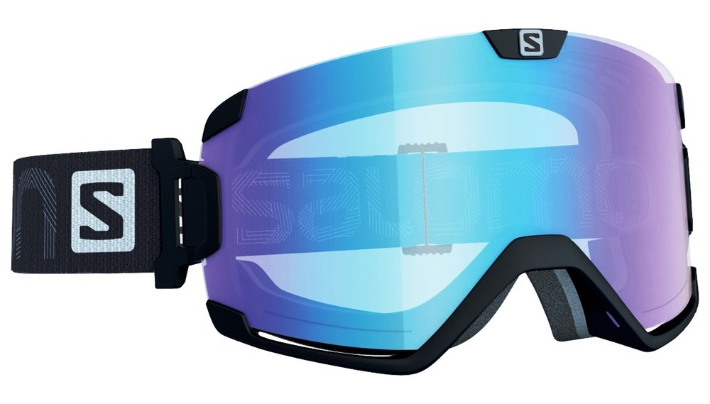 Маска Salomon COSMIC Blk/Lo Light L.Blue