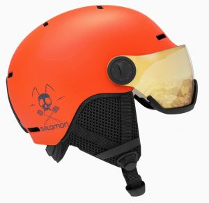 Горнолыжный шлем Salomon GROM VISOR Flame/T.Orange Univ