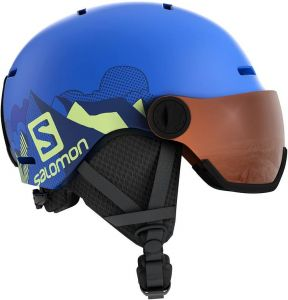 Шлем Salomon Grom Visor Pop Blue Mat/Univer