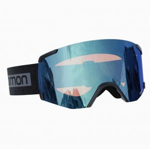 Маска горнолыжная Salomon S/VIEW BkBrand/LoLight L.Blue
