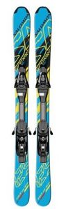 Лыжи Salomon SKI SET E Shortkart 120 + крепление EL10 B80 BL/YE
