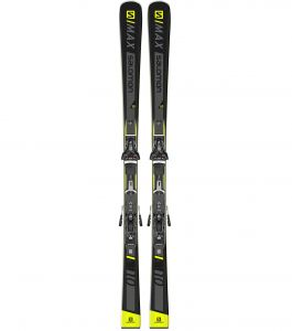Лыжи Salomon ski set e s/max 10 + z12 gw f80 black/ye