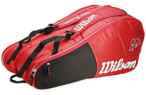 Чехол Wilson Federer team 6 pack red/white