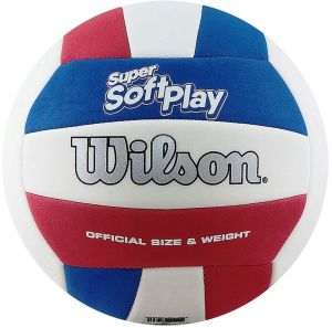 Мяч волейбольный Wilson SUPER Soft play whrdblue